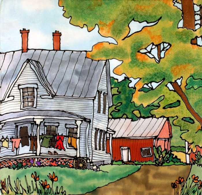 Farm Painting - Laundry Day by Linda Marcille