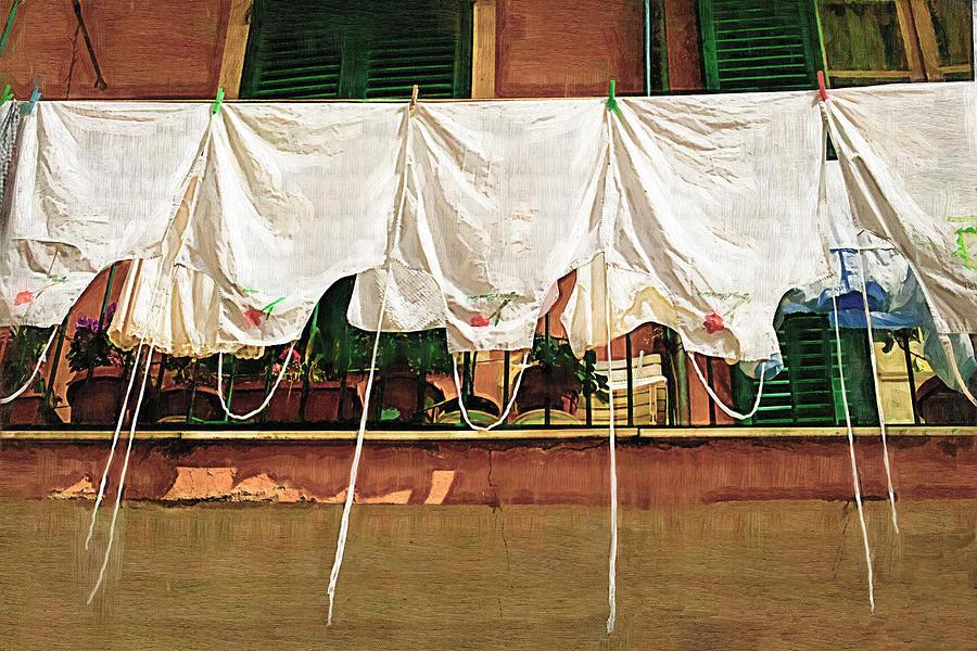 Italy Photograph - Laundry Day The Italian Way by Lynn Andrews