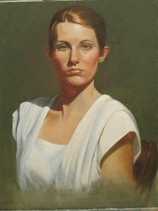 Laura Painting - Laura by Pat Aube Gray