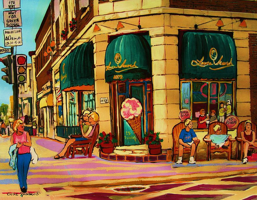 Cafes Painting - Laura Secord Candy And Cone Shop by Carole Spandau