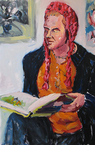 Figurative Painting - Laureen Griffin by Thom Duffy