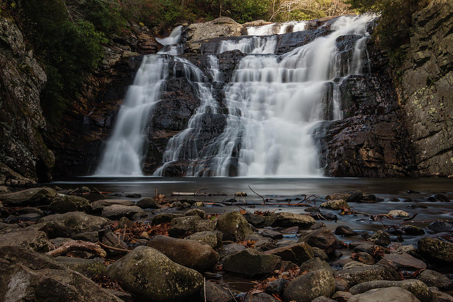 Waterfall Photograph - Laurel Falls in Autumn II by Jeff Severson