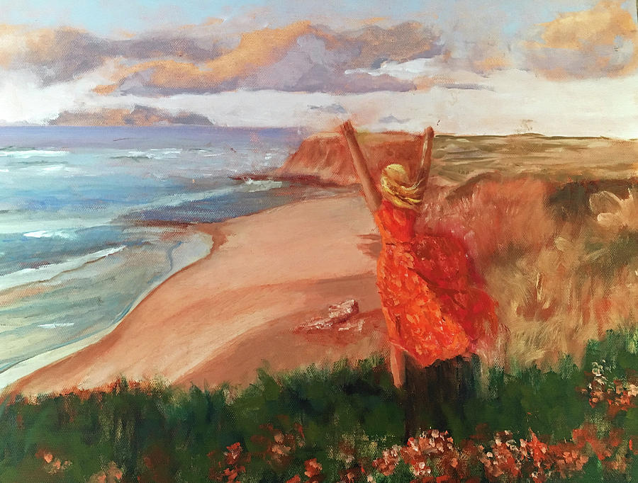 Portugal Painting - Lauren in Portugal by Lynne Atwood