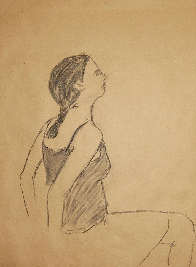 Portrait Drawing - Lauren No.1 by Marina Garrison