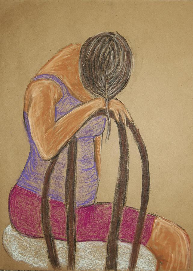 Portrait Pastel - Lauren No.3 by Marina Garrison