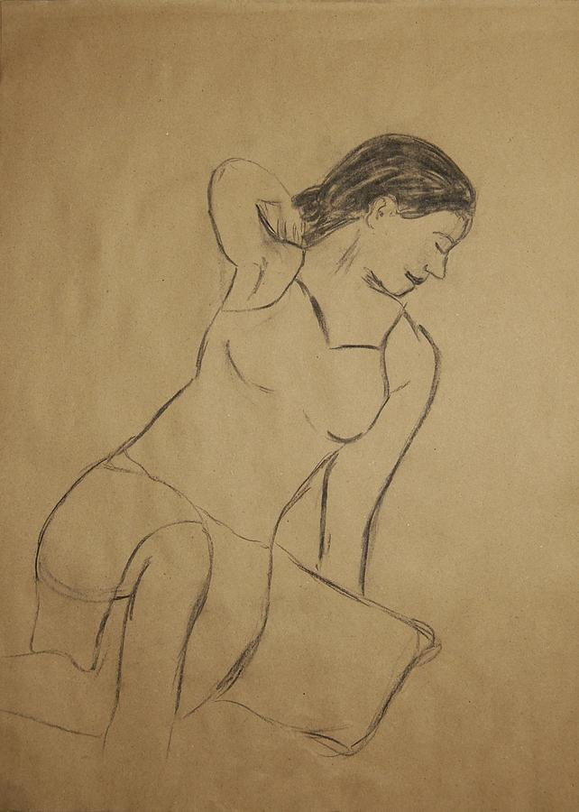 Portrait Drawing - Lauren No.4 by Marina Garrison