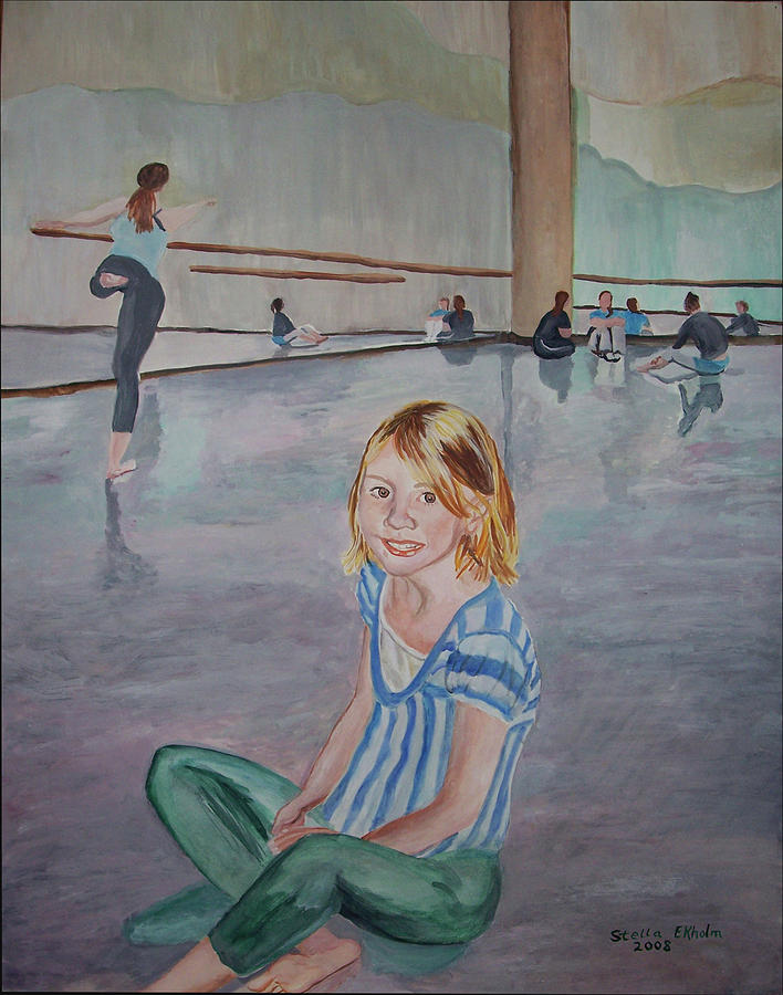 Dance Floor Painting - Laurens Dance Class by Stella Sherman