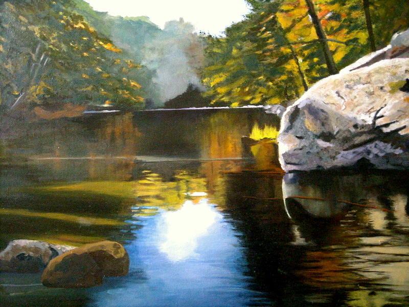 Water Painting - Laurentian Solitude by Margaret Farrar