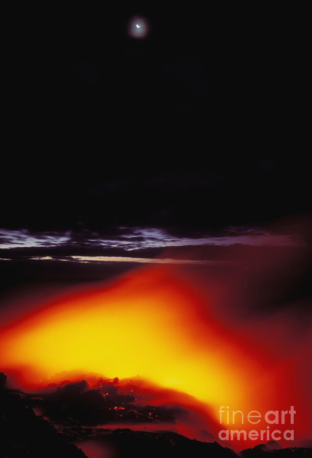 Active Photograph - Lava And Moon by William Waterfall - Printscapes