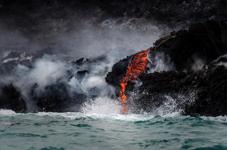Lava Dripping into the Ocean by Daniel Murphy
