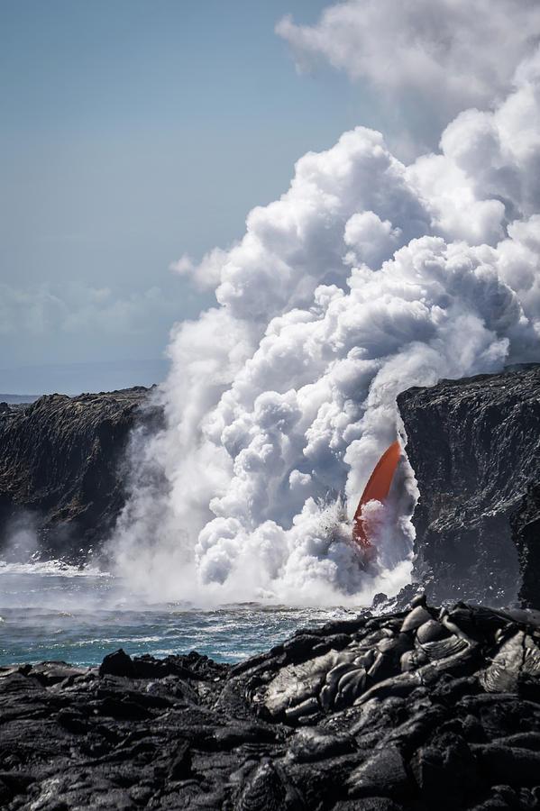 Lava Photograph - Lava fall by Corey OHara