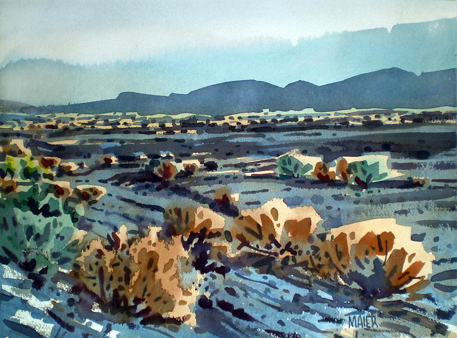 Lava Flow Painting - Lava Flow in Death Valley by Donald Maier