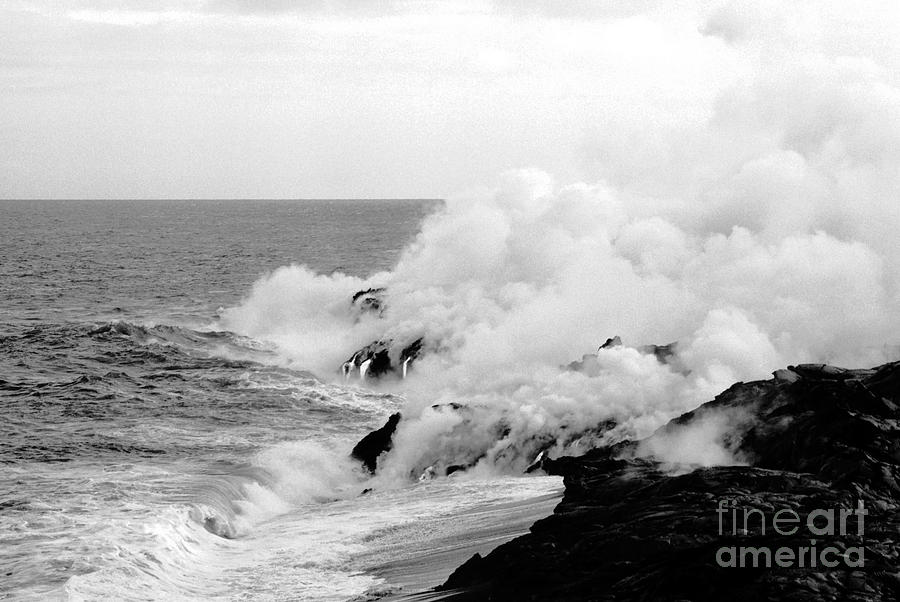 Lava Photograph - Lava Flowing To The Sea by Susan Chandler