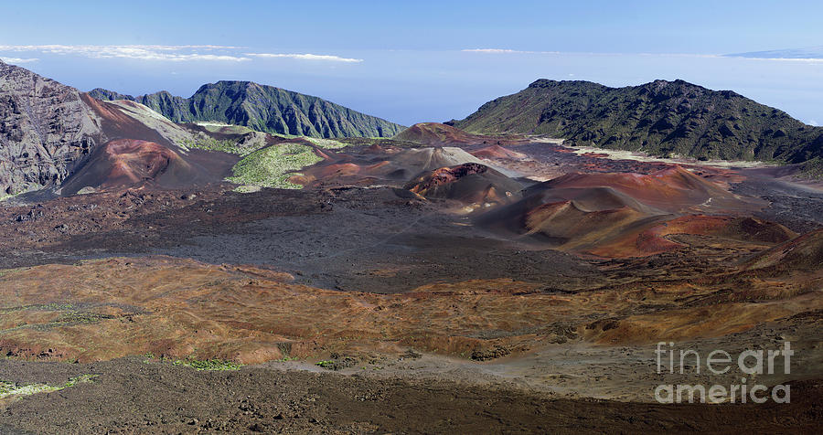Lava flows in the Haleakala Crater by Frank Wicker