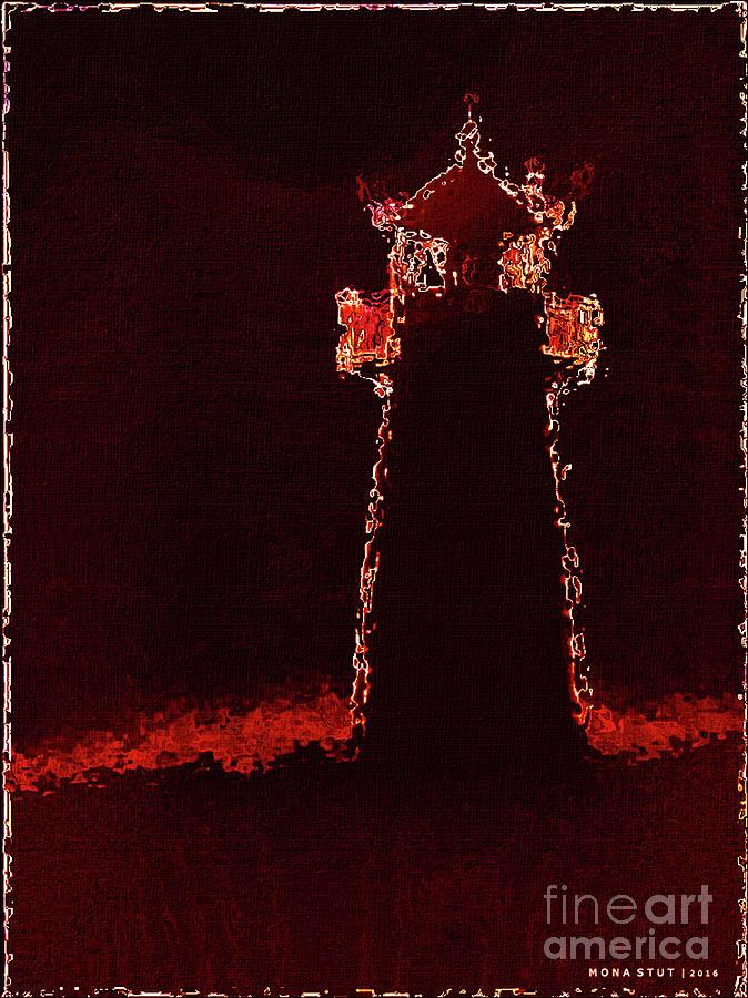Lighthouse Lava Silhouetted Digital Art