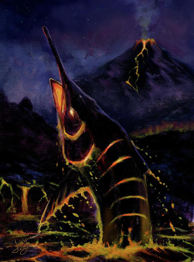 lava marlin digital art by yusniel santos