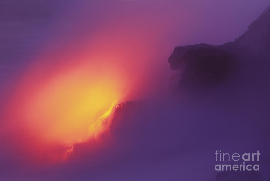Active Photograph - Lava Meets The Sea by William Waterfall - Printscapes