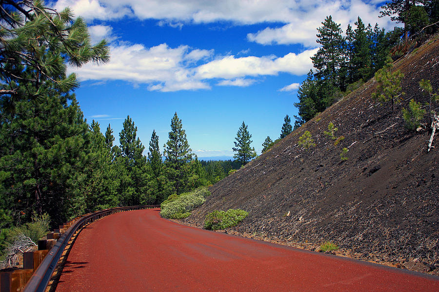 Mountain Roads Photograph - Lava Road by Kami McKeon