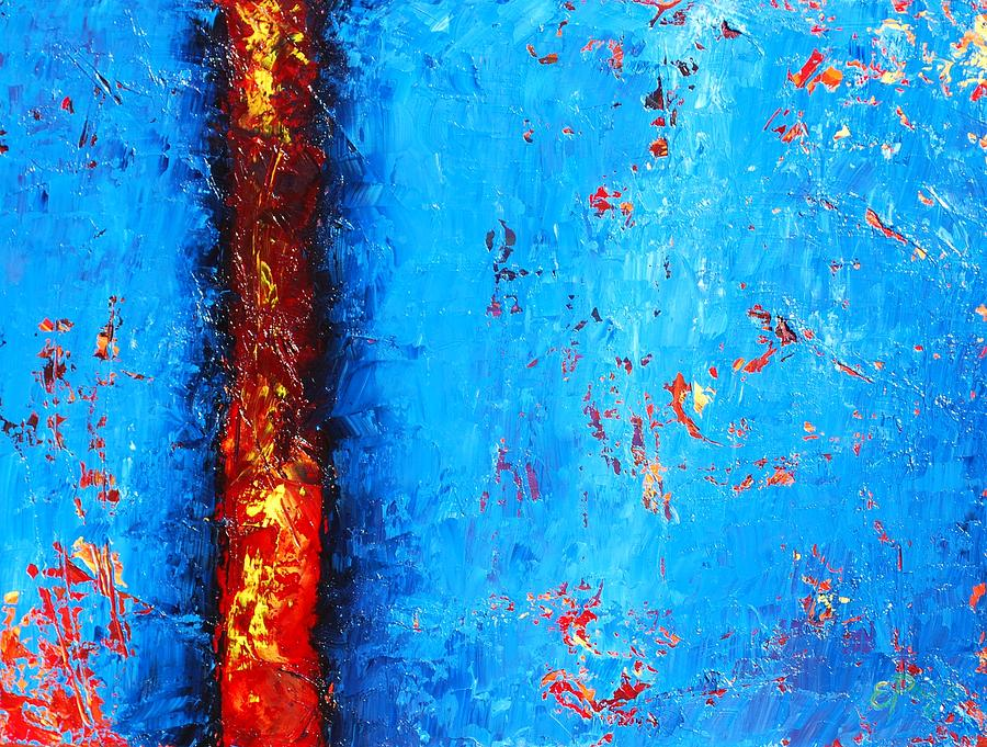 Abstract Painting - Lavan You by Emily Page