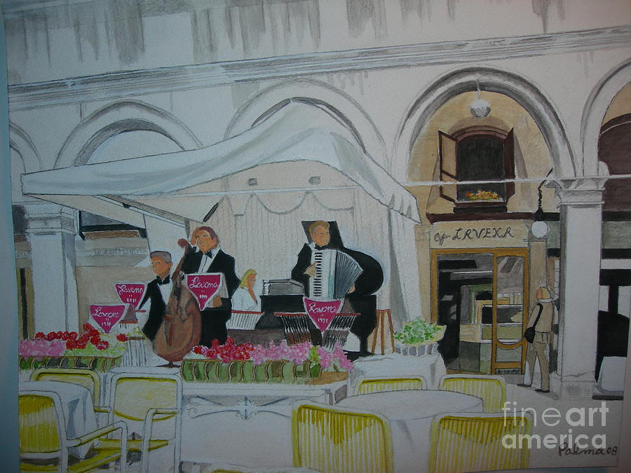 Piazza San Marco Painting - Lavena-piazza San Marco -venice by Palma Poochigian
