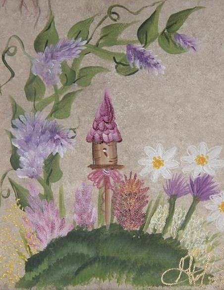 Whimsy Painting - Lavendar Whimsy by Ginny Roberts