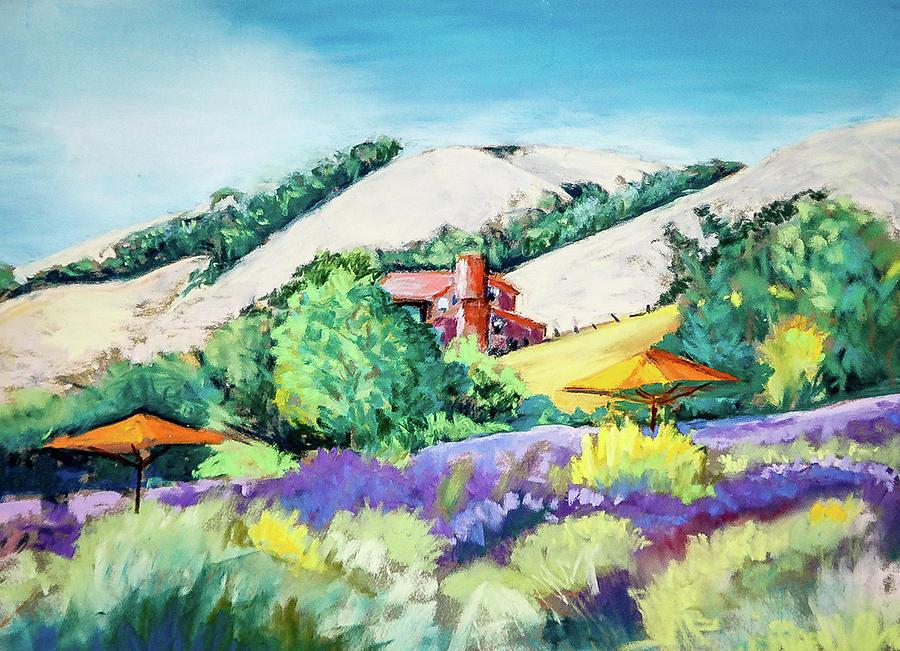 Pastel Pastel - Lavender At Matanzas Creek by Philip Lodwick Wilkinson
