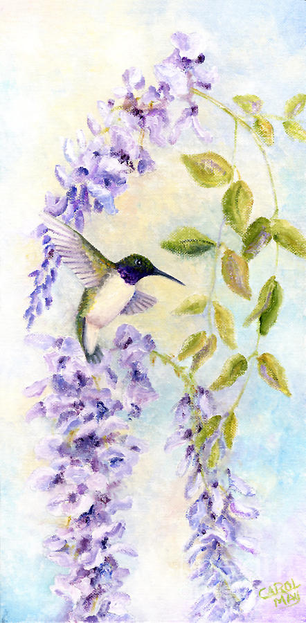 Hummingbird Painting - Lavender Beauty by Art by Carol May