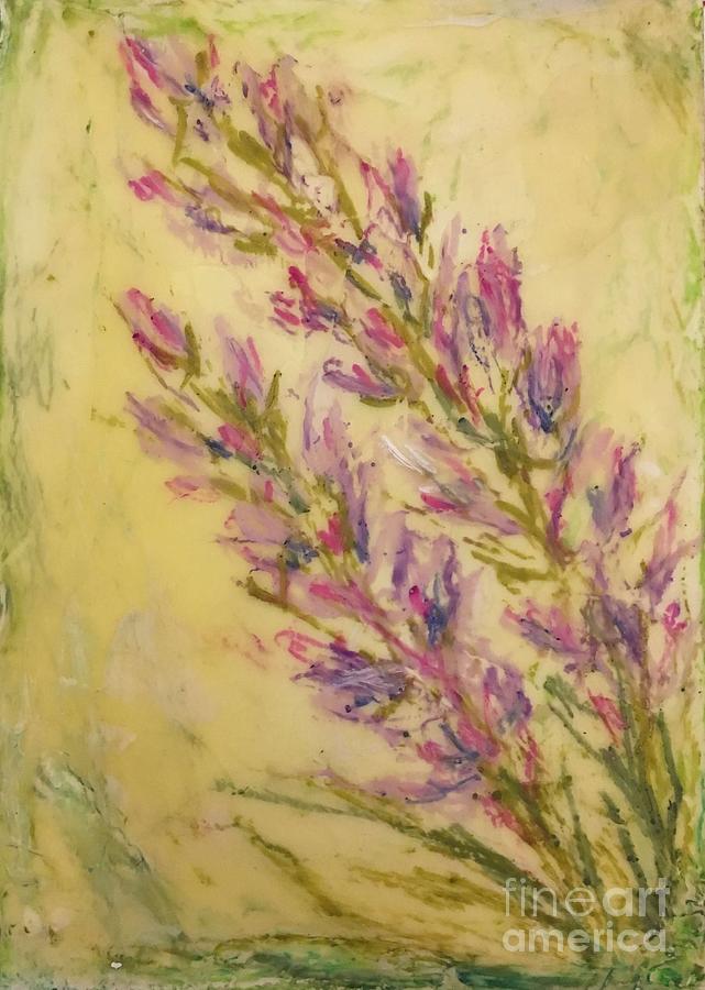Encaustic Painting - Lavender Bouquet  by Christine Chin-Fook
