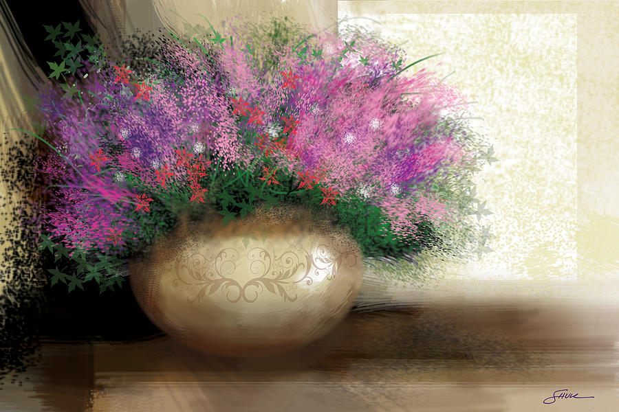 Flowers Digital Art - Lavender Bouquet by Harold Shull