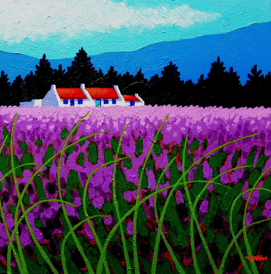 Lavender Painting - Lavender Field - County Wicklow - Ireland by John  Nolan