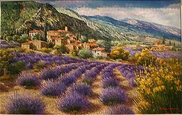 Lavender Fields Painting by Sam Park