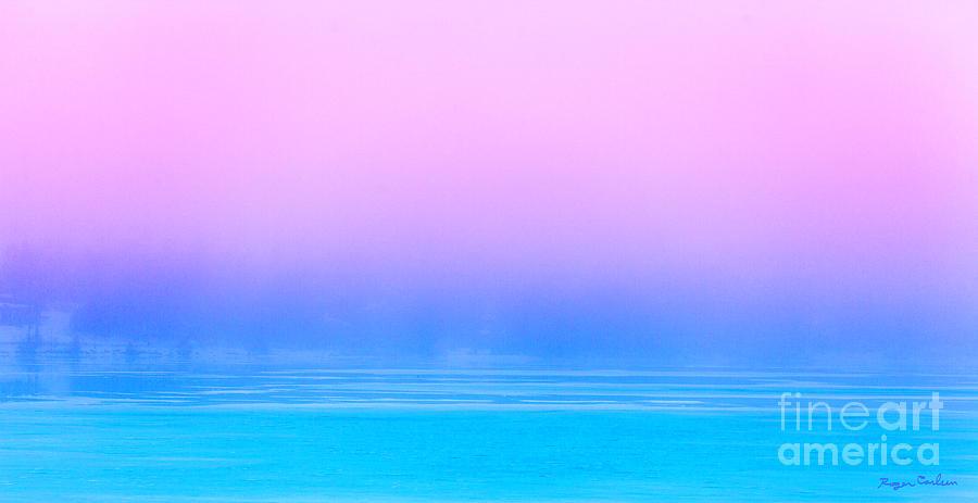 Fog Photograph - Lavender Fog by Roger Carlsen