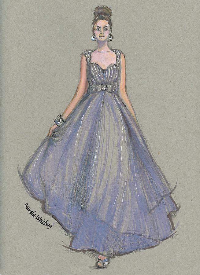 Lavender Gala Illustration by Pamela Weisberg