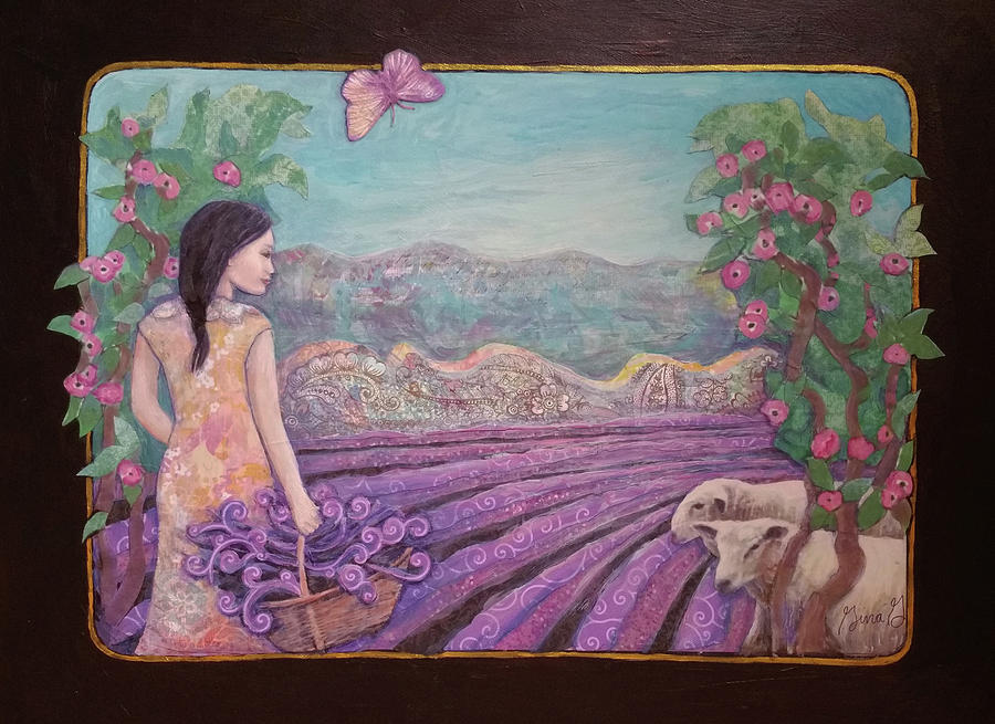 Lavender Harvest with Friends by Gina Grundemann