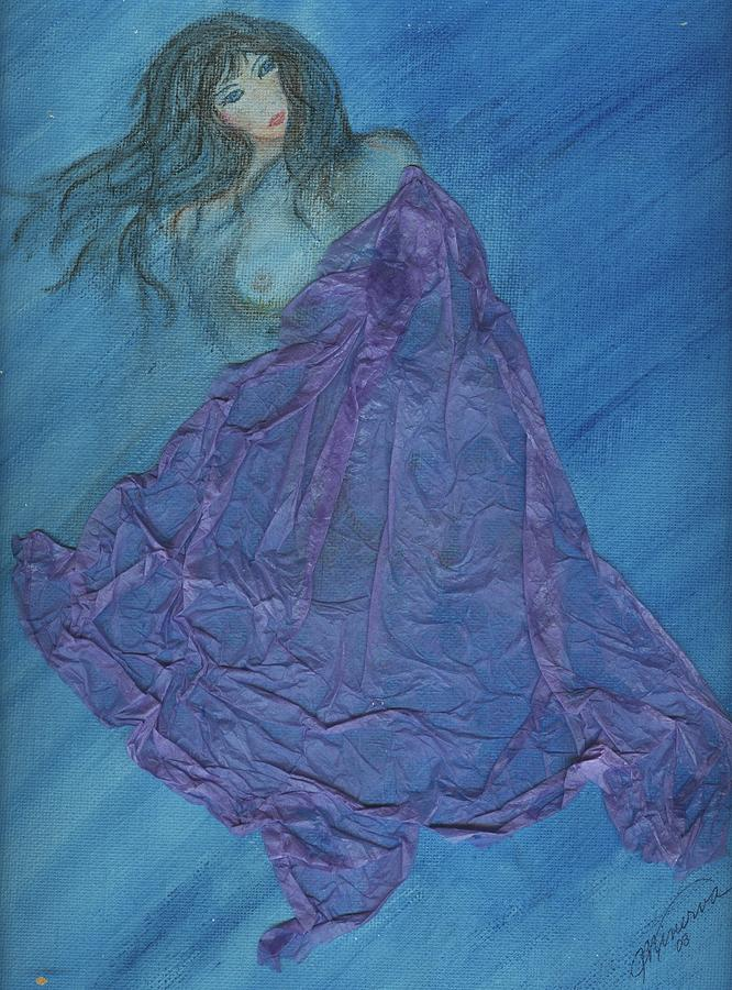Mixed Media Painting - Lavender Passion by Cathy Minerva
