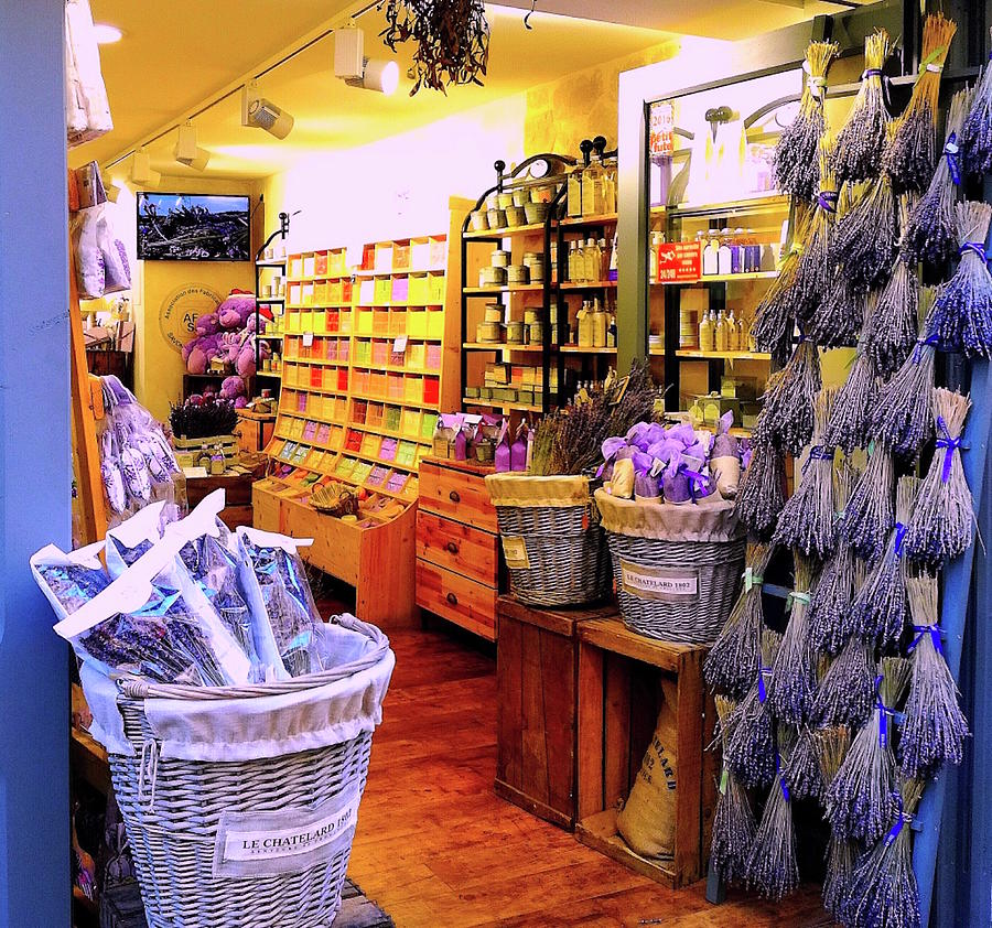 Lavender Shop in Southern France by Monique Wegmueller