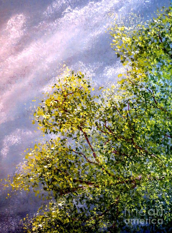 Lavender Painting - Lavender Skies by Tim Townsend