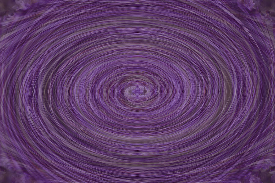 Abstract Photograph - Lavender Vortex by Teresa Mucha