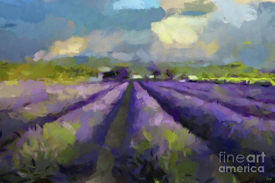 Provence Painting - Lavenders Of South by Dragica Micki Fortuna