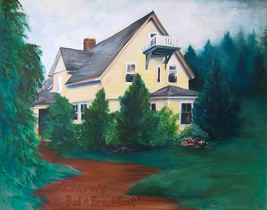 Landscape Painting - Laverns Bed And Breakfast by Jennifer Christenson