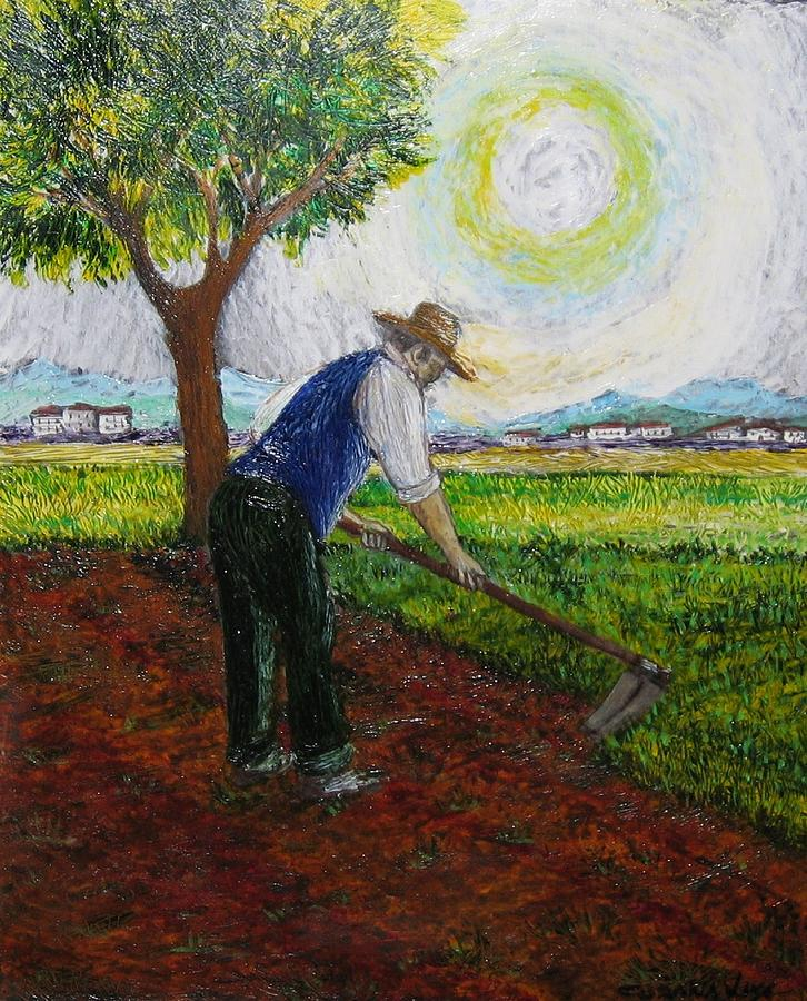 Campagna Painting - Lavoro Sui Campi by  Luca Corona