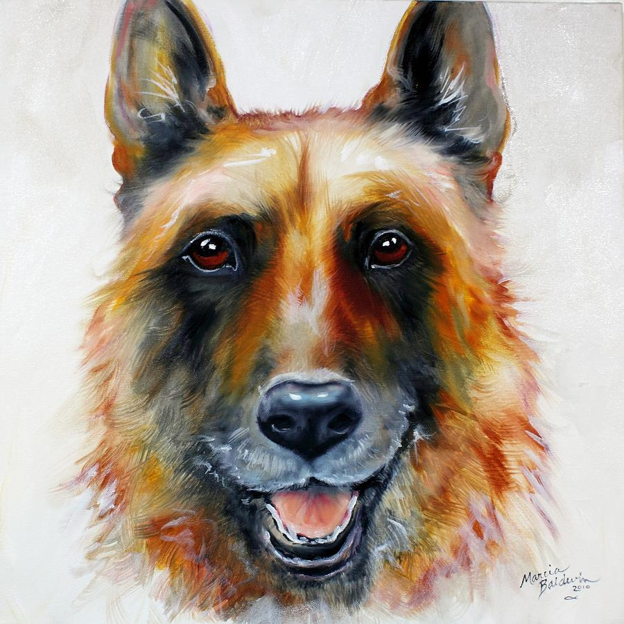 Dog Painting - Law Officer by Marcia Baldwin