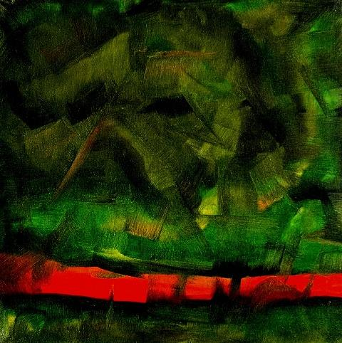 Abstract Painting - Lawa by Anand Bedrala