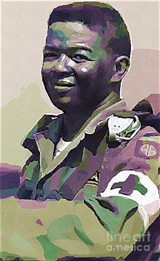 Congressional Medal Of Honor Photograph - Lawrence Joel  Popart by Lawrence Joel