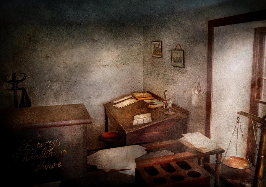 Hdr Photograph - Lawyer - The Law Office by Mike Savad