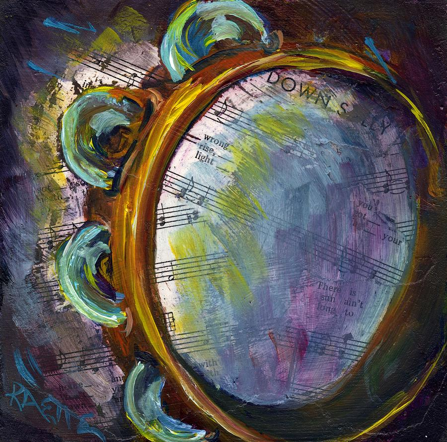 Music Painting - Lay Down Sally by Raette Meredith