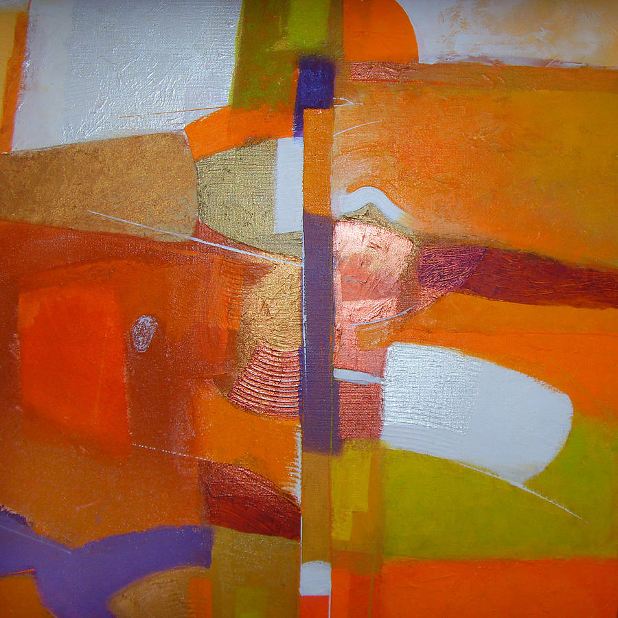 Abstract Impressionism Painting - Layag 2009 Details by Edbon Sevilleno