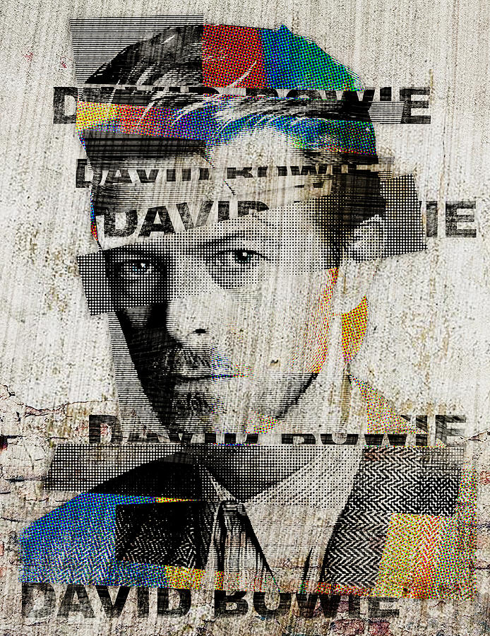 Layered Bowie by Luz Graphic Studio