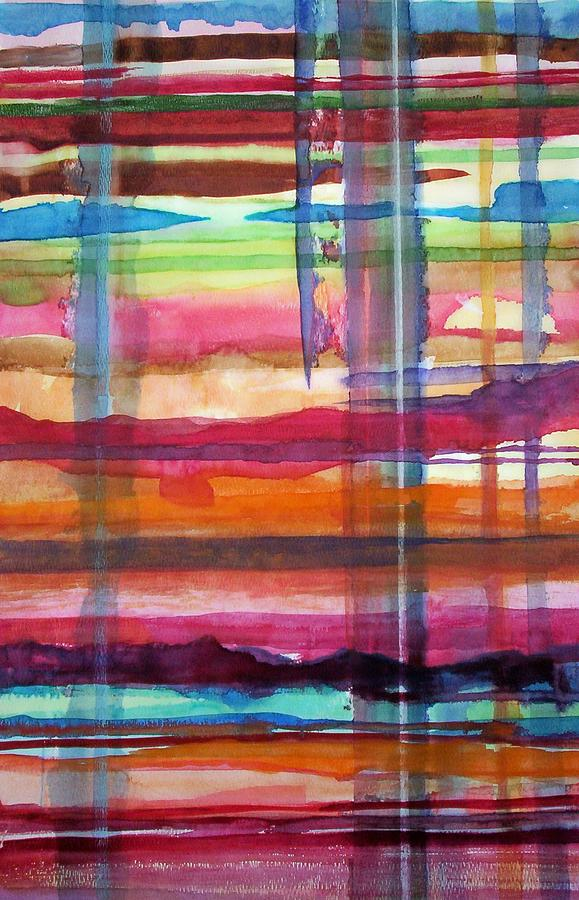 Abstract Painting - Layered by Suzanne Udell Levinger