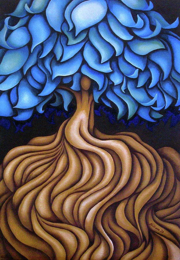 Tree Painting - Layers LXXV by Diana Durr